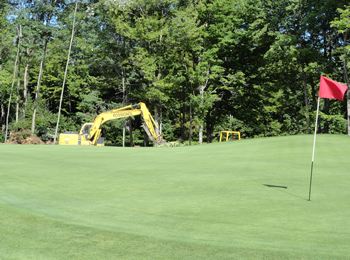 Waterville Country Club, landscaping by Rossignol's Excavating.