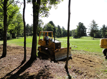 Waterville Country Club, earthwork provided by Rossignol's Excavating.